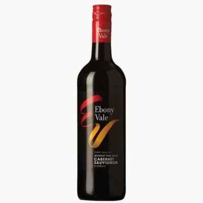 Красное полусладкое безалкогольное вино из Германии из сорта Каберне Совиньон (Ebony Vale Cabernet Sauvignon)