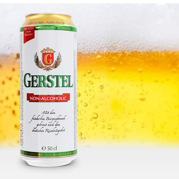 """Безалкогольное пиво """"Gerstel"""" Alkoholfrei, in can, 0.5 л (Герштель Безалкогольное, в жестяной банке, 500 мл)"""