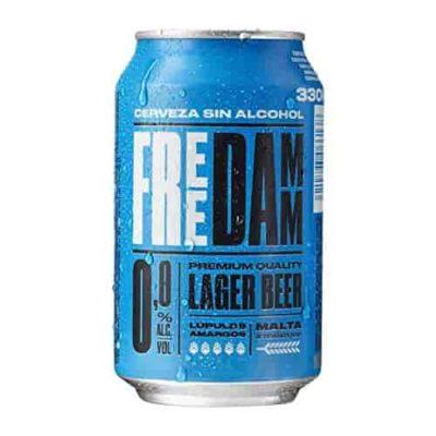 Безалкогольное пиво FREE DAMM (Фри Дам) Premium Quality Lager Beer (Non - Alcoholic)