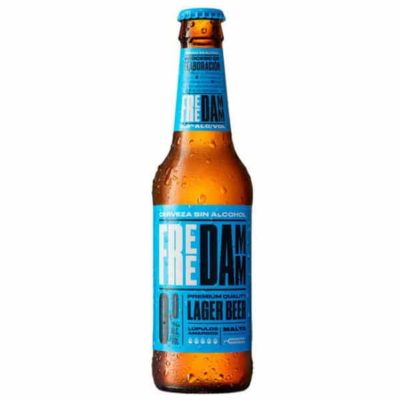 Безалкогольное пиво FREE DAMM (Фри Дам) Premium Quality Lager Beer (Non - Alcoholic) бутылка